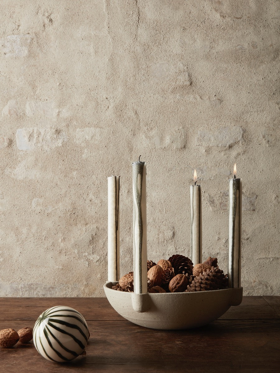 Ferm Living Ceramic Bowl Candle Holder - Cloudberry Living