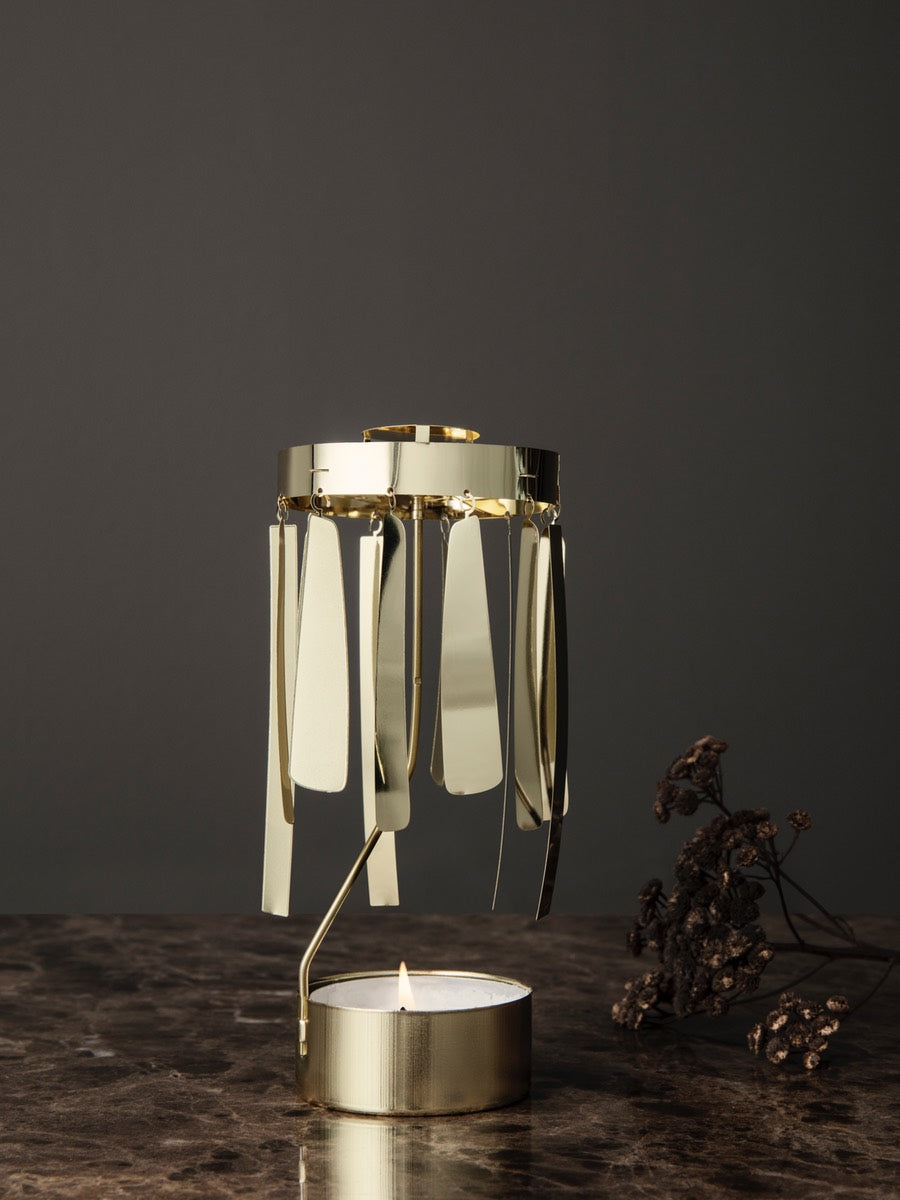 Ferm Living Tangle Spinning Gold Tealight - Cloudberry Living
