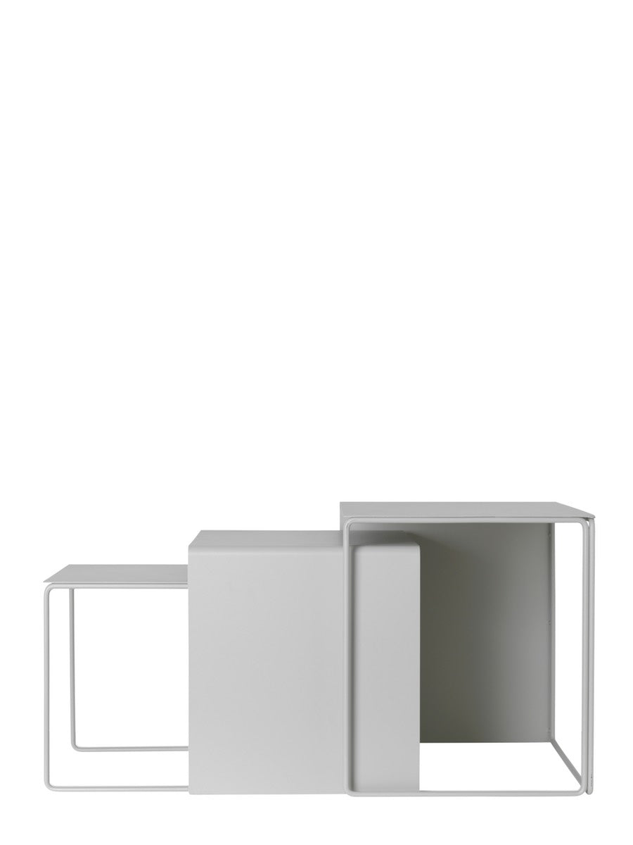 Ferm Living Cluster Tables Grey Set of 3 - Cloudberry Living