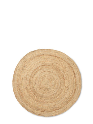 Ferm Living Eternal Round Jute Rug - Cloudberry Living