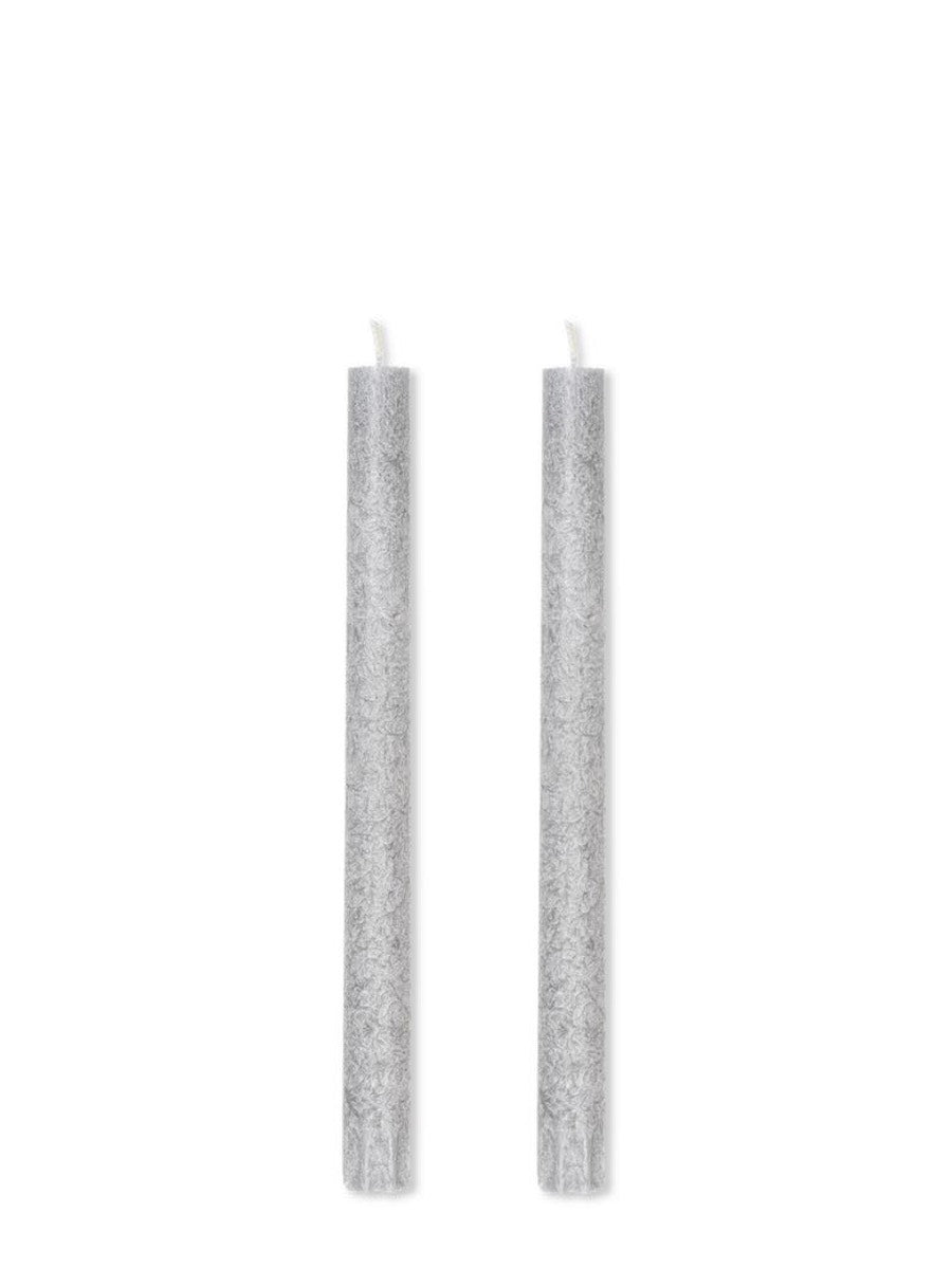 Ferm LIVING Uno Candles Light Grey - Set of 2 - Cloudberry Living