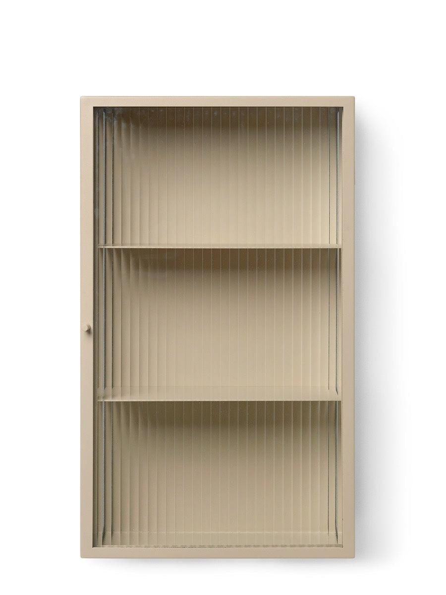 Ferm Living Haze Wall Cabinet Reeded Glass - Cloudberry Living