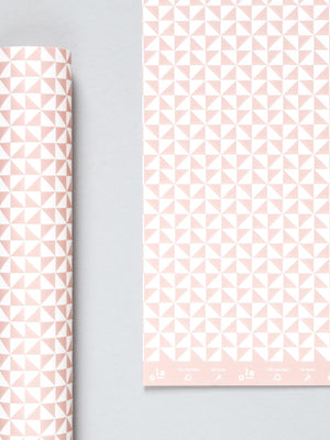 Ola Studio Patterned Paper Kaffe Print Clay Pink 2 Sheets - Cloudberry Living