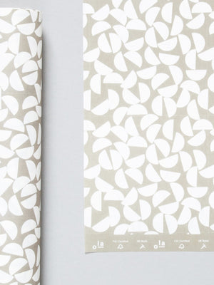Ola Studio Patterned Paper Maze Print in Sand 2 Sheets - Cloudberry Living