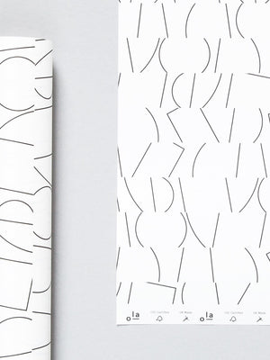 Ola Studio Patterned Paper Sol Print in Black & White 2 Sheets - Cloudberry Living
