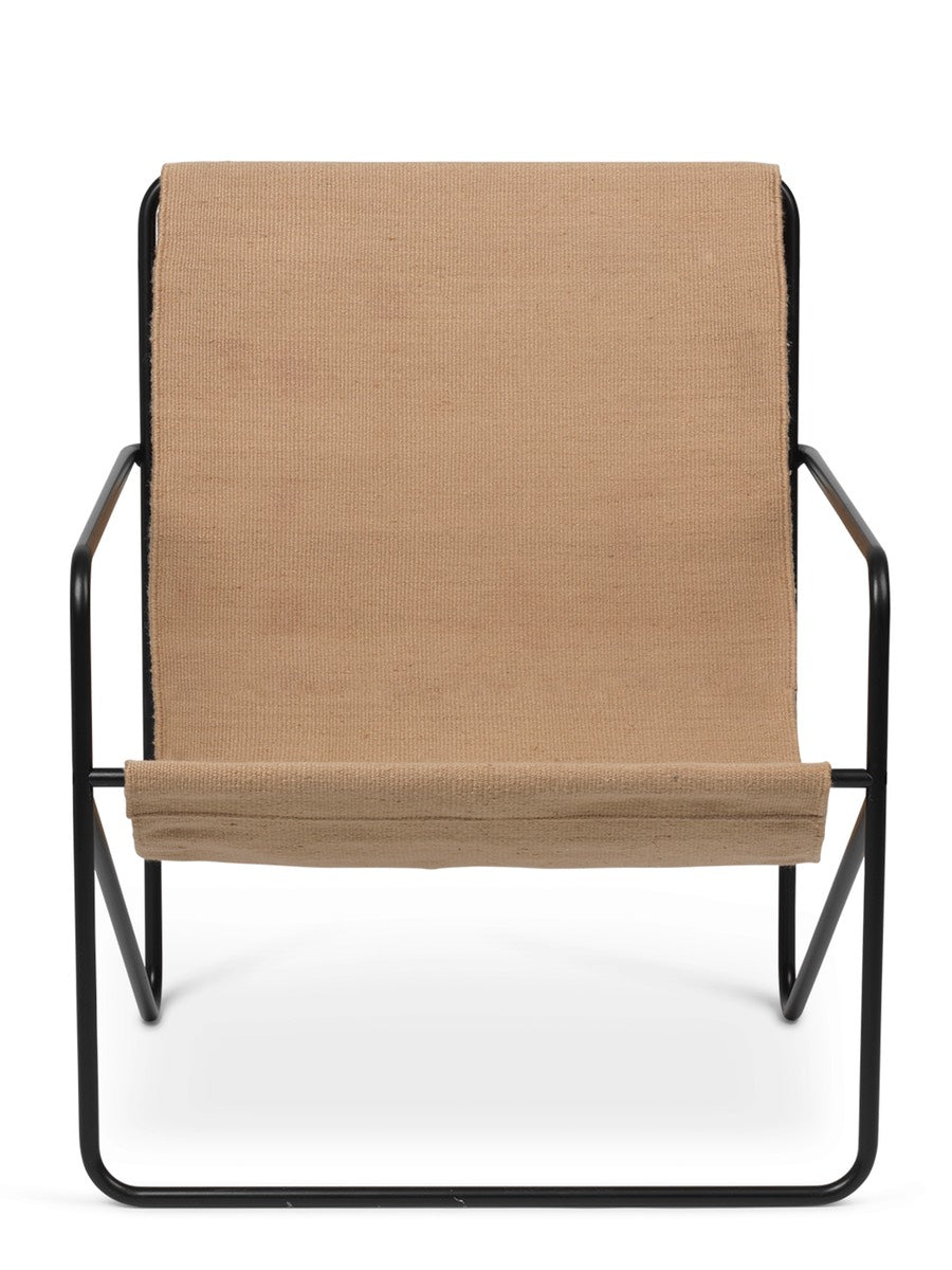 Ferm Living Desert Lounge Chair Solid Cashmere Black - Cloudberry Living