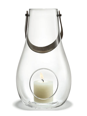 Holmegaard, Design With Light Glass Lantern, Clear , 45 cm - Cloudberry Living