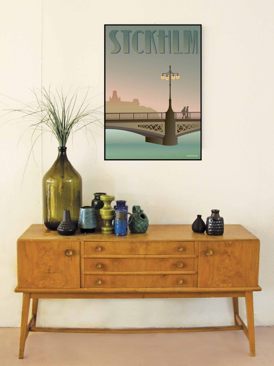 VisseVasse Vasabroen Bridge Stockholm Poster - Cloudberry Living