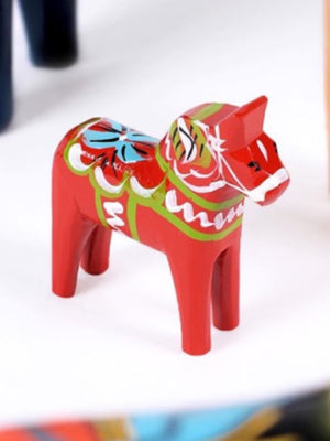 Traditional Swedish Handmade Dala Horse Red - Cloudberry Living