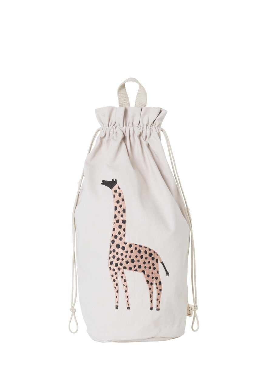 Ferm Living Safari Storage Bag Giraffe - Cloudberry Living