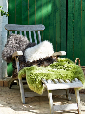 Natures Collection New Zealand Sheepskin Cushion Walnut - Cloudberry Living