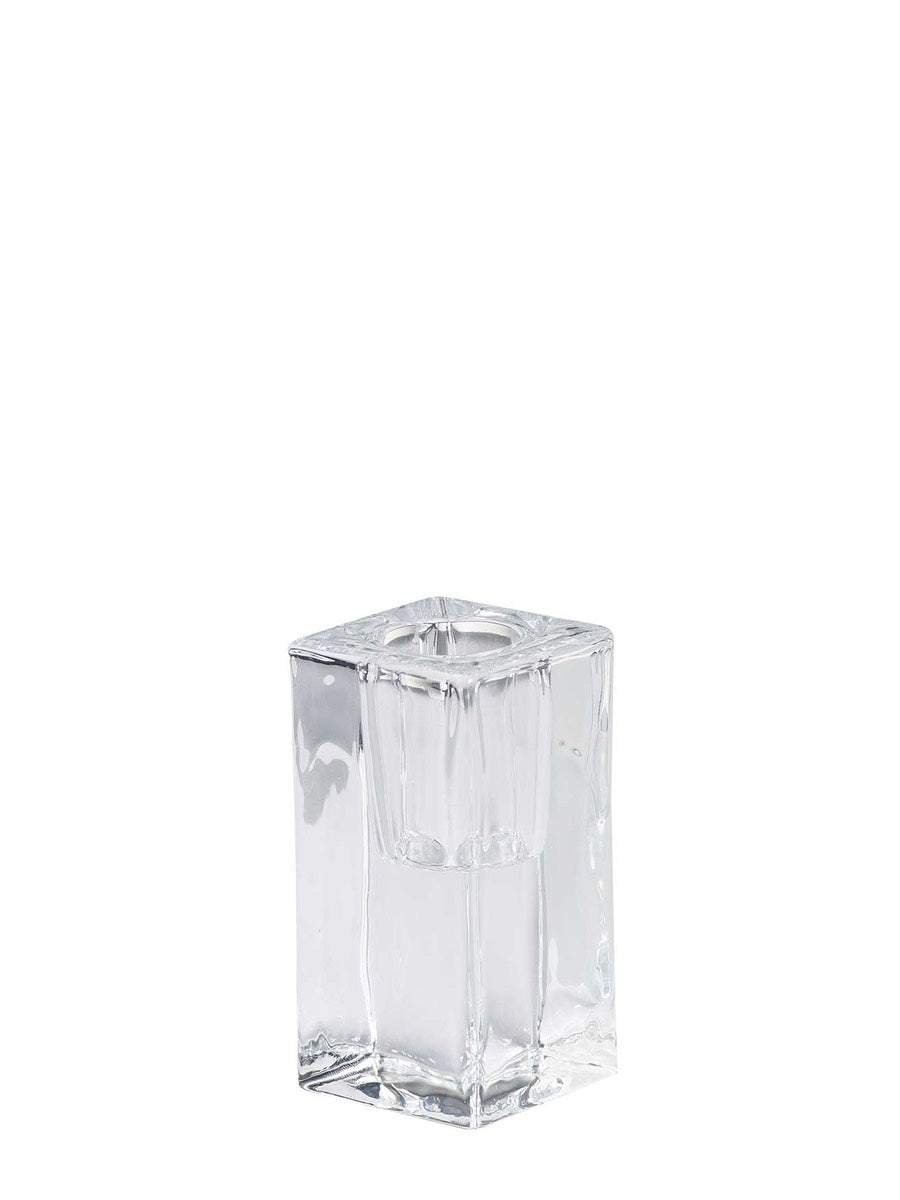 Contemporary Square Glass Candle Holder - Cloudberry Living