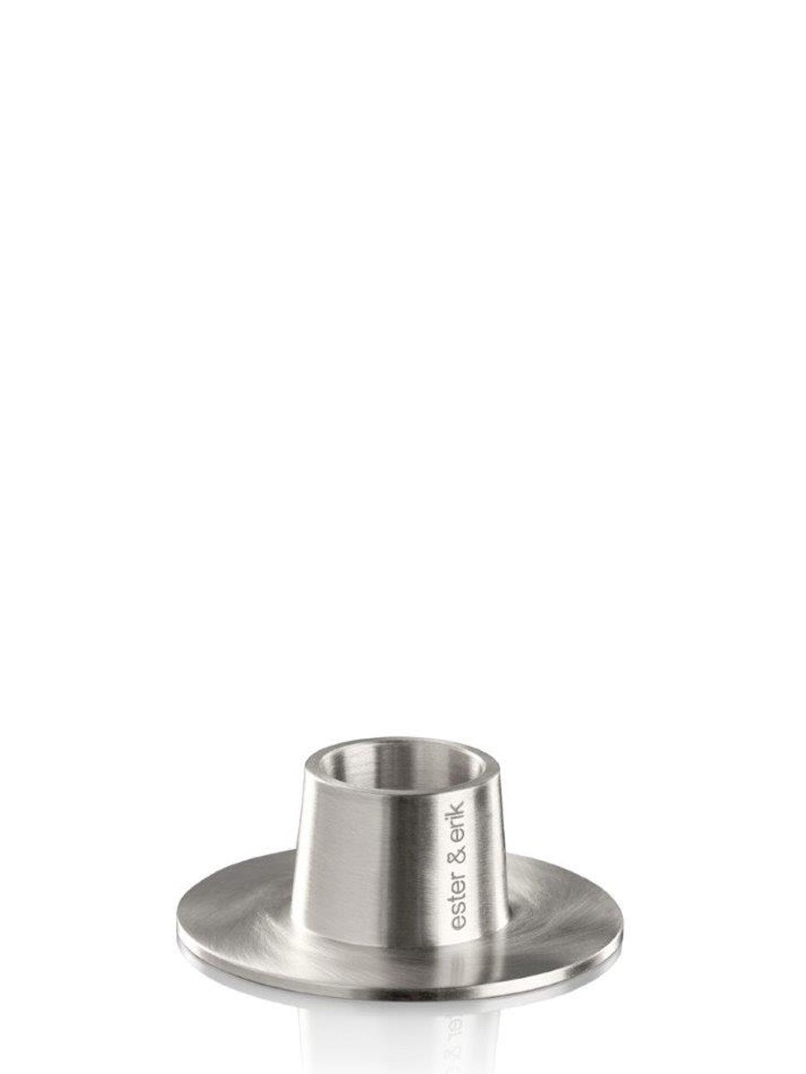 Ester & Erik Matt Silver Candle Holder - Cloudberry Living