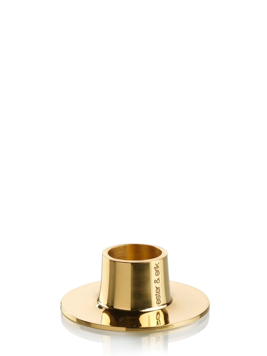 Ester & Erik Shiny Brass Candle Holder - Cloudberry Living