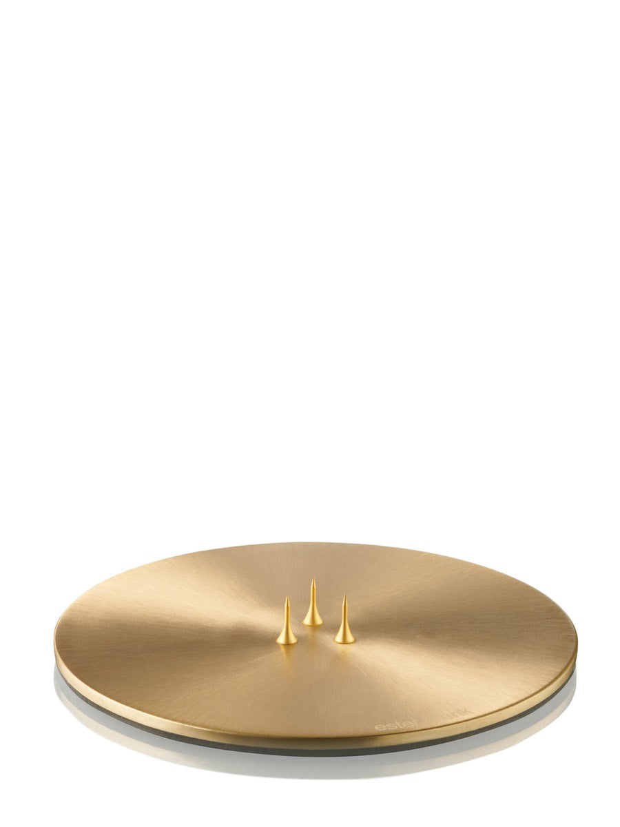 Ester & Erik Candle Plate Brushed Brass - Cloudberry Living