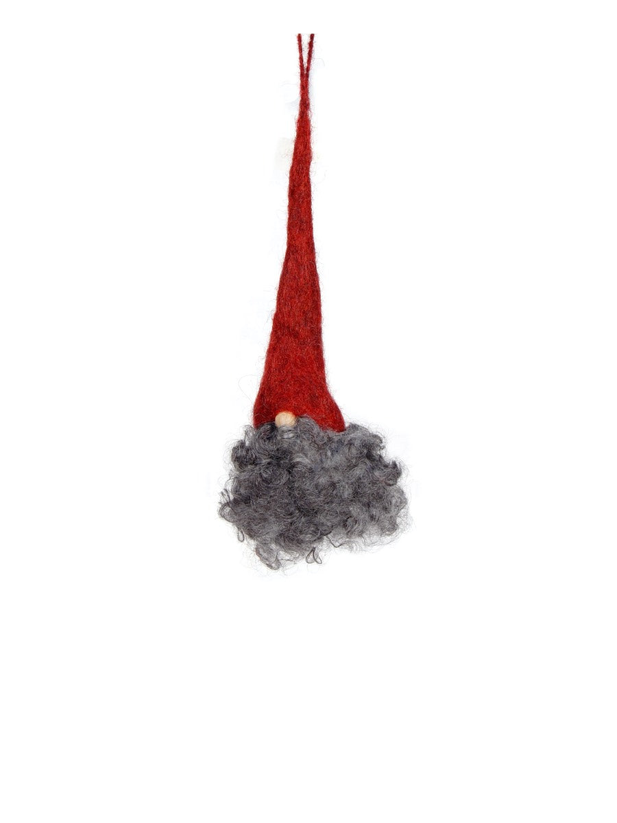 Christmas Tomte Grankvis Red Cap Grey Beard Set of 3 - Cloudberry Living