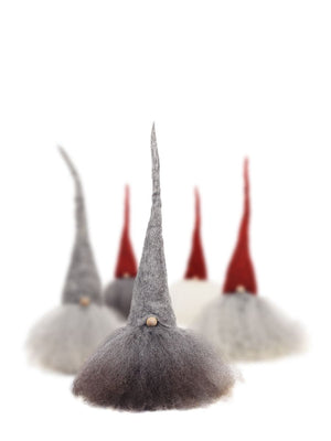 Christmas Tomte Large Grey Cap White Hair - Cloudberry Living