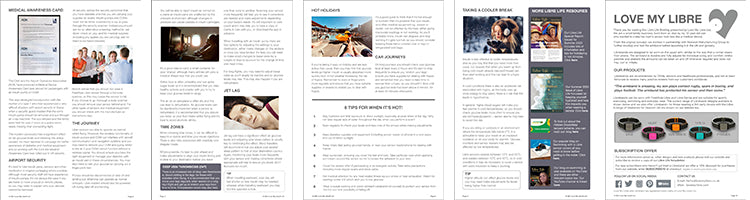 Libre Life Briefing Special Report Spring 2021. How to Travel. Thumbnails of pages 6 to 10.