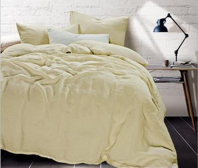 100% Flax Linen Bedding Set (4 pieces - King + Queen)