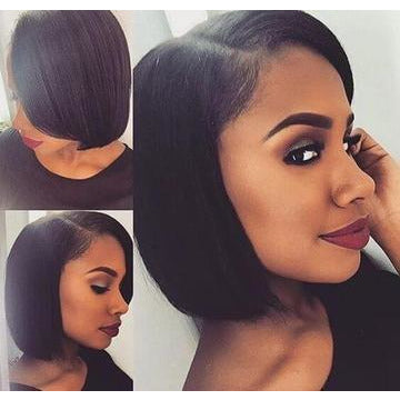 Short Bob Wig Full Lace Wig Silky Straight-Kefi Hair Company
