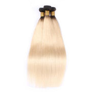 Pre-Order : 1 Bundle Brazilian Hair Dark Root Ombre colr 1B/613 Color Straight-Kefi Hair Company
