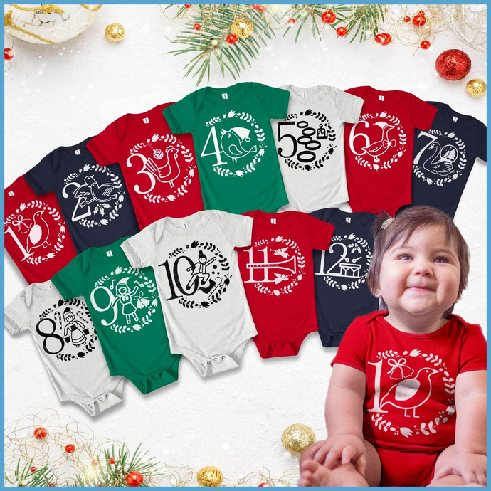 12 Days Of Christmas Onesie Bundle
