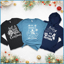 Load image into Gallery viewer, Brooke & Belle: T-Shirt, Long Sleeve and Hoodie Christmas Bundle (A)