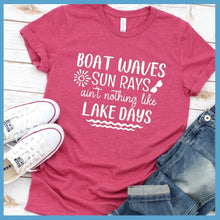 Load image into Gallery viewer, Boat Waves Sun Rays T-Shirt