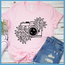 Load image into Gallery viewer, Camera Floral T-Shirt