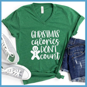 Christmas Calories Don't Count V-Neck
