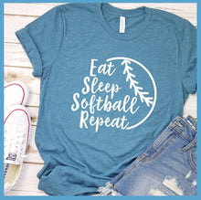 Load image into Gallery viewer, Eat Sleep Softball Repeat T-Shirt