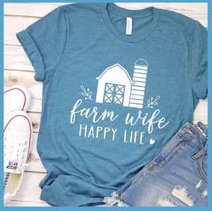 Farm Wife Happy Life T-Shirt