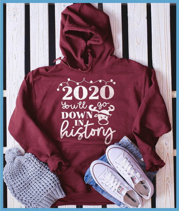 2020 You'll Go Down In History Hoodie