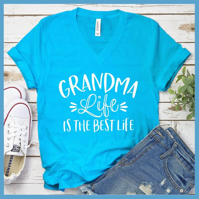 Grandma life is the best life V-neck