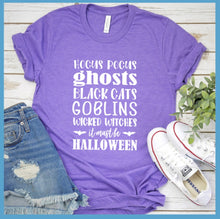 Load image into Gallery viewer, Halloween Words T-Shirt