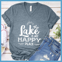 Load image into Gallery viewer, The Lake Is My Happy Place V-neck