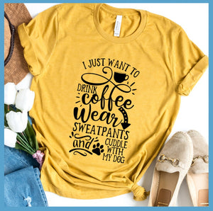 I Just Want To Drink Coffee  T-Shirt