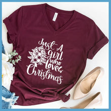 Load image into Gallery viewer, Just A Girl Who Loves Christmas V-Neck