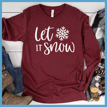 Load image into Gallery viewer, Let It Snow Long Sleeves