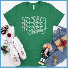 Load image into Gallery viewer, Merry Christmas Retro T-Shirt