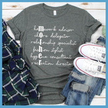 Load image into Gallery viewer, Mother's Roles Handwriting Version 2 T-Shirt