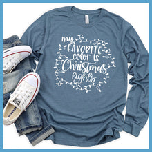 Load image into Gallery viewer, My Favorite Color Is Christmas Lights Long Sleeves