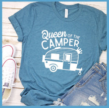 Load image into Gallery viewer, Queen Of The Camper T-Shirt
