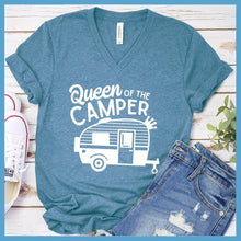 Load image into Gallery viewer, Queen Of The Camper V-neck