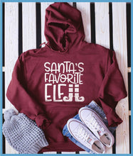 Load image into Gallery viewer, Santa's Favorite Elf Hoodie