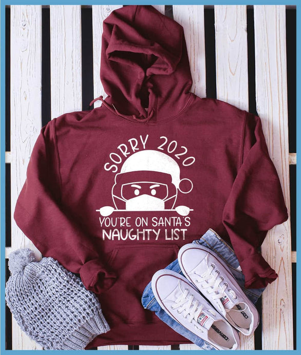 Sorry 2020 You're On Santa's Naughty List Hoodie