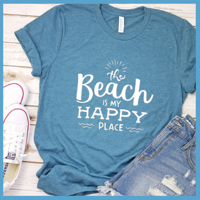 The Beach Is My Happy Place T Shirt