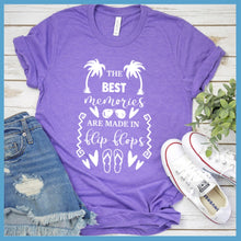 Load image into Gallery viewer, The Best Memories Are Made In Flip-Flops T-Shirt