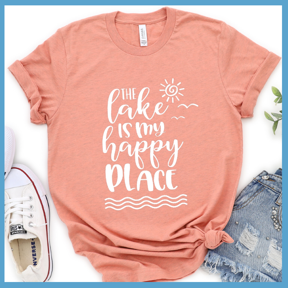 The Lake Is My Happy Place Version 2  T-Shirt