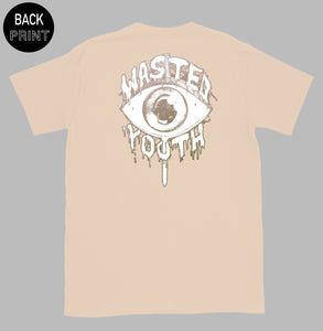 """ THE EYE "" TEE / CREAM / BY WASTED YOUTH"